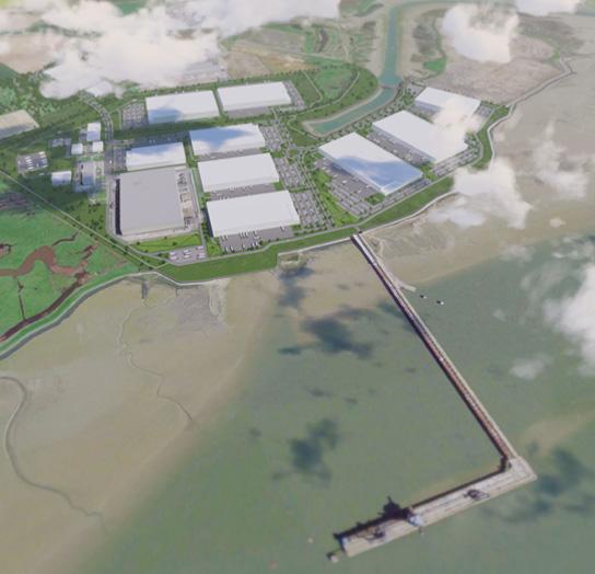 Aerial CGI of proposals