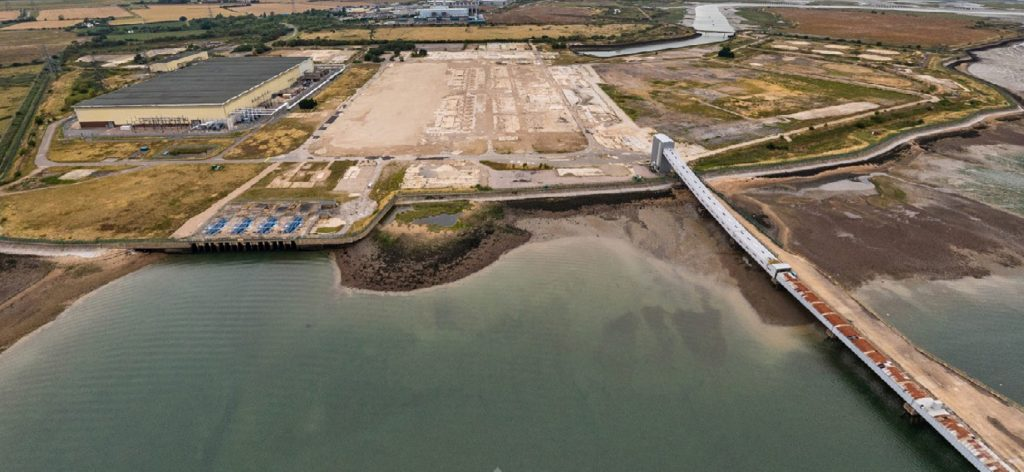 Taken from over River Medway looking North